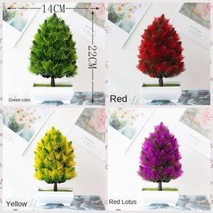 Artificial Fake Bonsai Small Tree Pot Plants potted Wedding Party Home Decor Artificial Plant Fake Plant Hotel Garden Decoration