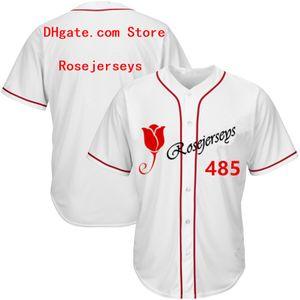 RJ123-485 Camisetas de béisbol # 485 Hombres Mujeres Jóvenes Niños Adultos Dama Personalizado Cosido Cualquiera Tu Propio Nombre Número S-4XL