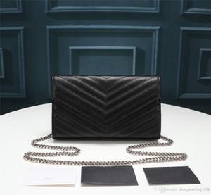 donne di lusso del progettista di modo della borsa di alta qualità in vera pelle flap bag croce corpo nappa di vacchetta borsa nera tote bag 22,5 centimetri