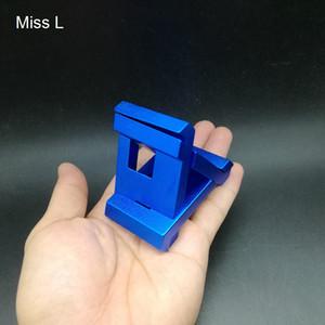 Divertido Triângulo Azul Liga De Alumínio De Metal 3D Puzzle Bloqueio Fundido de Metal Puzzle Jogo de Mente Recreativa Brinquedo