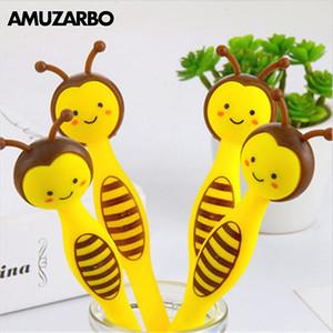 1 Pz Kawaii Animal Gel Pen Little Bee Penna a Sfera 0.5mm Ufficio Scuola Strumenti di Scrittura Forniture Studente Carino Cancelleria Per Bambini Regali