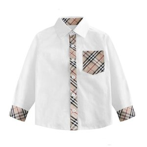 Clothes New Autumn Kids Casual Children Shirt Plaid Lapel Long Sleeve Blouse Kids Boys Cotton Tops Clothing