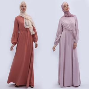 Vestidos Lange Abaya Dubai Arabisch Muslim Maxikleid Frauen Kaftan Kaftan Elbise Eid Hijab Türkisch Kleider Jilbab Femme Musulman