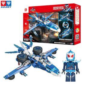 Tijolos Armour guerreiros Assembleia AULDEY Super Hunter Águia Transforming Robot Building Blocks Series Set crianças Presente de Natal Toy 07