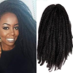 """3 pacotes de 18 polegadas de comprimento Marley Bulk Kinky Twist Trançado Cabelo Afro Kinky Curly Twist Crochet Tranças Cabelo Para Mulheres Negras (18 """"1b)"""