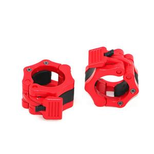 Haltère haltère Boucle de verrouillage à mâchoires barbell Colliers de serrage ABS + nylon 0,3 kg / paire seulement pour 50 mm Set olympique Barbell olympique