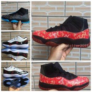 2020 Hommes 11 Hight Marine Bleu Os Clair De Basket-ball Chaussures Univers Rouge Dragon Haute 11s Paniers Baskets Sports Des Chaussures Zapatos Taille 13