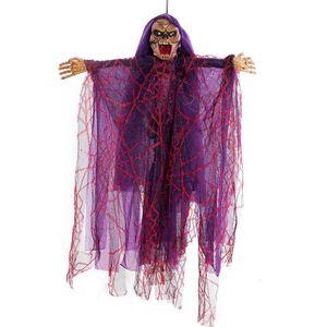 Halloween Hanging fantasma strega bambole Voice Control Prop animate spaventoso Equitazione Scopa parete Hang festa all'aperto per la casa della decorazione Giocattoli nuovi