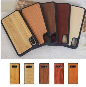 ترف لينة TPU سيليكون خشبية حماية ضد الصدمات حالة الهاتف لتغطية اي فون برو 11 XS MAX XR X 7 8 زائد سامسونج S10 زائد S9 S8 ملاحظة 9