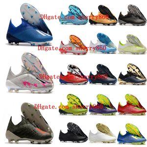 2019 Nova mens sapatos de futebol X 19 FG grampos do futebol nemeziz Grampos de x 18 fg botas de futebol scarpe calcio messi quente