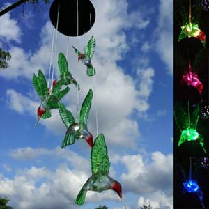 Cambiare colore del LED Solar Wind Chime Wishing bottiglia del vento per il giardinaggio Illuminazione