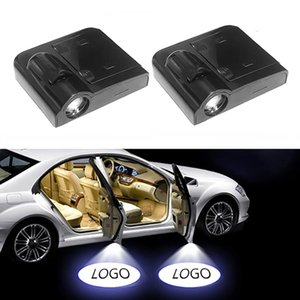 1 Adet Universal Kablosuz Araç Kapı Led Lada Seat için Lazer Projektör Logo Gölge Işık Car-stil Welcome