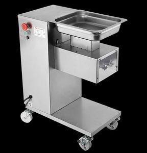 Großhandel - kostenloser Versand 110V / 220V vertikale Art Fleischschneidemaschine Fleischschneider Slicer 500kg / hr Fleischverarbeitungsmaschine