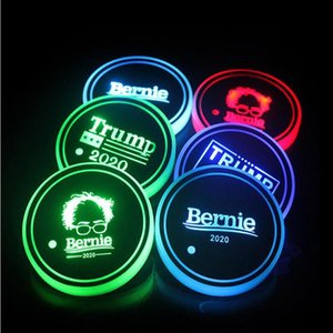Car Luminous Water Coaster Mat America Election LED Colorful Intelligent Luminous Coaster Car Water Glass Anti-skid Mat IIA33