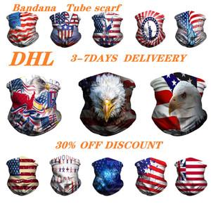 Многофункциональный американский флаг пыли Магия лица Бандана крышки пробки шеи шарф повязка Мода Открытый Головные уборы Спортивные аксессуары Маска DHL