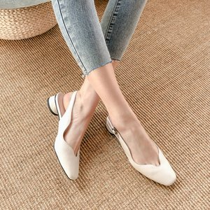 Big Size 9 10 high heels sandals women shoes woman summer ladies Back tripping sandals with thick heels