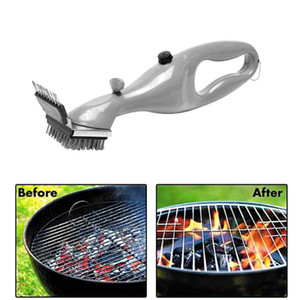 Stainless Steel Cleaning Brush Outdoor Barbecue Rack Cleaner With Steam Power Accessories Cooking Tools BBQ Cleaning Brush HHA1288