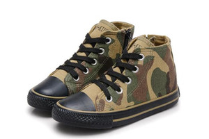 Children Shoes for Girls Camouflage Canvas Shoes Boys Casual High Boots for School chaussure enfant fille