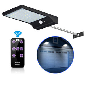 Solar Lights Outdoor 48 LED 3 Modes Motion Sensor Solar Wall Light with Remote Controller Waterproof Security Lamp for Street Garden
