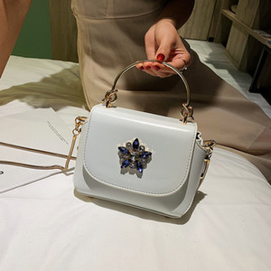 Ocean slanting female bag tide 2019 new fashion Korean version of the wild shoulder portable chain bag