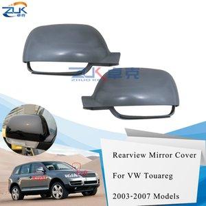 ZUK For Touareg 2003-2007 Door Exterior Rearview Mirror Cover Frame Shell Housing Unpainted Left Right For Volkswagen