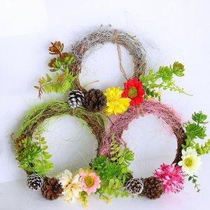 Dekor Asma 1pc Yapay Çiçek DIY Çelenk Kapı Düğün Ev Duvarı