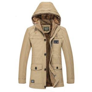 Inverno Codice aumenterà Down Jacket Cappello Anche gli uomini di Puro Cotone allentato cappotto dell'uomo Fondo Lungo Giacca a vento