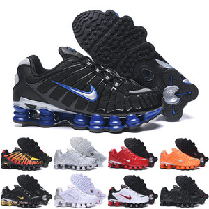 Nike Air Max Shox Top qualité tl Hommes Chaussures de course respirant Chaussures sport de marche en plein air Noir Blanc Chaussures r4 Formateurs
