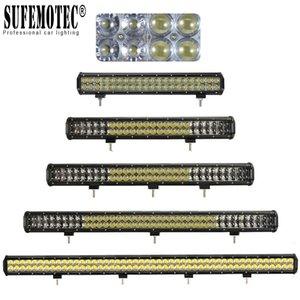 4D Mercek Offroad SUV UTE Kamyon 4X4 4WD Tekne Taşkın Nokta Combo Işın Sürüş Sis Lambası 12V 24V 20 '' 28 '' 36 '' 44 İnç Düz LED Light Bar