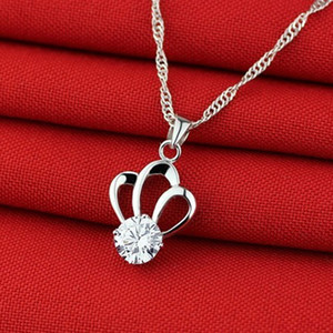 2020 Bling Crystal Bridal Jewelry silver plated necklace diamond Wedding jewellery for bride Bridesmaids women Accessories