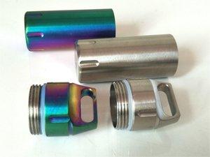 Aço inoxidável EDC Garrafa impermeável mini portáteis chaveiro latas seladas Old People First Aid Kit Outdoor Products