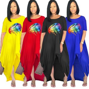 New products in spring and summer Dresses Explosive style loose fashion short sleeve offset printing foreign trade dress