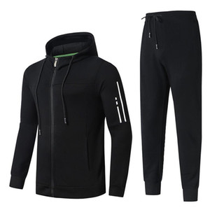Marca Designer Sports Luxo terno dos homens Autumn Correndo Designer jacket + pants dos homens de Moda Set Hot Men Tracksuits
