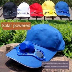 Solar fan shade cotton baseball sun Hat sun hat solar baseball cap advertising cap with fan
