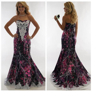 New Sweetheart Lace Appliques Camo Wedding Dresses Slim Formal Bridal Gowns Long Muddy Girl Camouflage Vestidos De Mariee Camouflage
