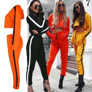 Tracksuits Casual Long Sleeve Hooded Tracksuits Spring Autumn Women Two Piece Pants Fashion Designer Women