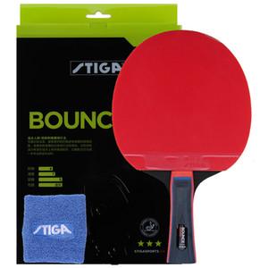 espinhas 100% original Stiga PRO BOUNCE 3 estrelas Ténis de mesa raquete de ping pong em raquetes T191026 ofensiva