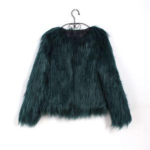 Floating Hair Jacket Fur Coat Women Lady Fur Overcoat Imitation Faux  Jackets Hairy Party Warm Plus Size Coat