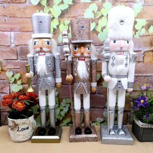 NEW Puppet 38CM Vintage Glitter Powder Shimmer Bright Nutcracker Christmas Gift Christmas Decorations For Home Party T200703