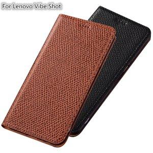 QX04 Echtes Leder Magnetic Phone Case Für Lenovo Vibe Shot Z90 Fall Für Lenovo Vibe Shot Flip Fall Mit Kartensteckplatz