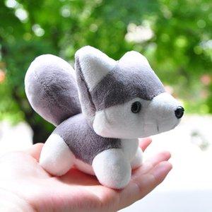 10cm Cartoon Animal Printed Dog Husky Plush Pendant Keychain Soft Bag Xmas Gift Handbag Backpack Kawaii Creative Stuffed Toy