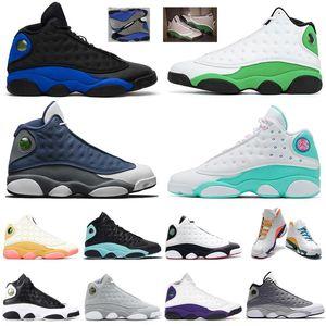 Flint 2020 13 de calidad superior Luky hombre verde de aire para mujer de los zapatos de baloncesto Zona de juegos retro 13s criados en las zapatillas de deporte para hombre Trianers tamaño 13