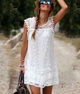 New Fashion 2019 Abiti casual sexy donne estate senza maniche partito abito da spiaggia abito corto in chiffon mini abito abbigliamento donna