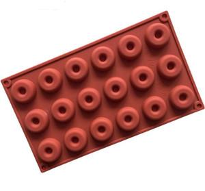18 kavite mini donut pan yapışmaz silikon donut maker fırın ve küçük donuts için fırın ve bulaşık makinesinde yıkanabilir pişirme kalıp, çerezler, vb SN2786