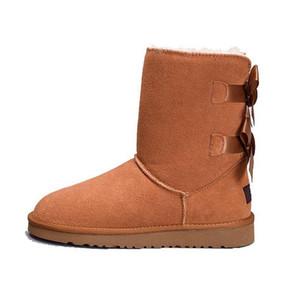 Горячие Продажа-мужчин Австралия Классические высокие сапоги Женщины девушка снег Зимние сапоги обувь фуксия черный синий красный кожаные туфли размер 36-41