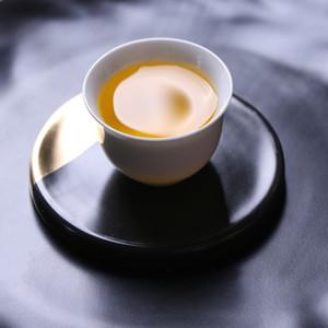 Ouro / padrão de mármore preto Bebida de cerâmica coaster copo de café tapete almofada de chá placemats tabela decoração