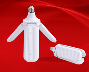 Garage light LED Three-leaf Environmental Protection Energy-saving Light Bulb Super Bright Folding Umbrella Light Adjustable 45W White Lamp