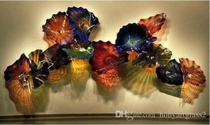 Пользовательские лампы цвета размера оптом ручной книги искусства стеклянные настенные плиты из мурано для отель отель