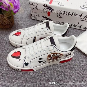 Men And Women small white shoes imported high-grade silk fabric fashion color with wear - resistant outsole shoes With box 35-45