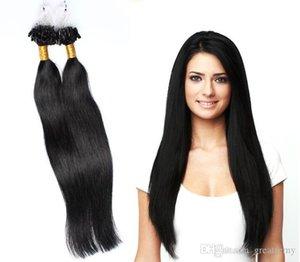 Color #1#1b#2#4 Brazilian Peruvian Virgin Micro Ring Loop Straight Hair Extension 100% human Hair weft remy Micro Loop Hair Extension